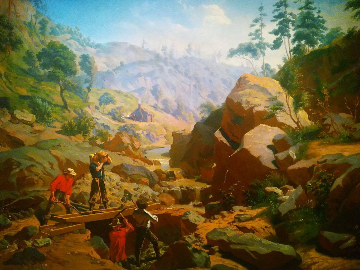 Miners in the Sierras, painted by Charles Christian Nahl in 1851-512